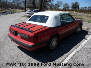 MAR '10: 1989 Ford Mustang Convertible