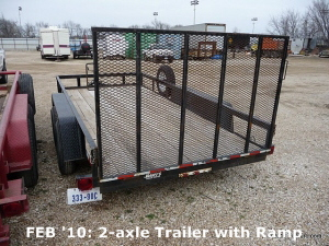 FEB '10: 2-axle Trailer with Ramp