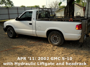 APR '11: 2002 GMC S-10 with LiftGate