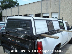 AUG '09: S-10 Camper Shell