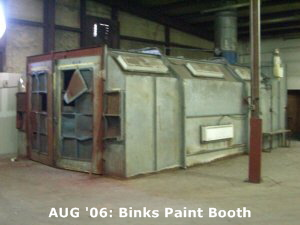AUG '06: Binks Paint Booth