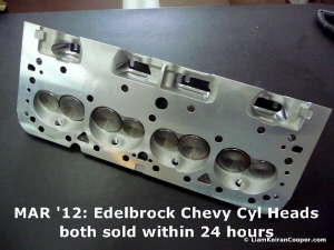 2 Edelbrock Small BLock Chevy Cylinder Heads