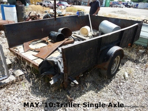MAY '10:Trailer Single Axle